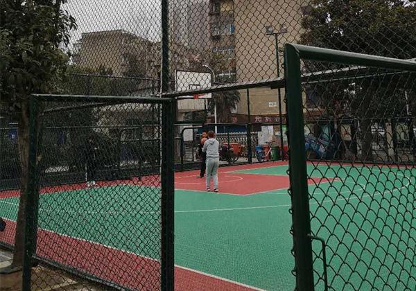 荆州市祥和社区围栏篮球场